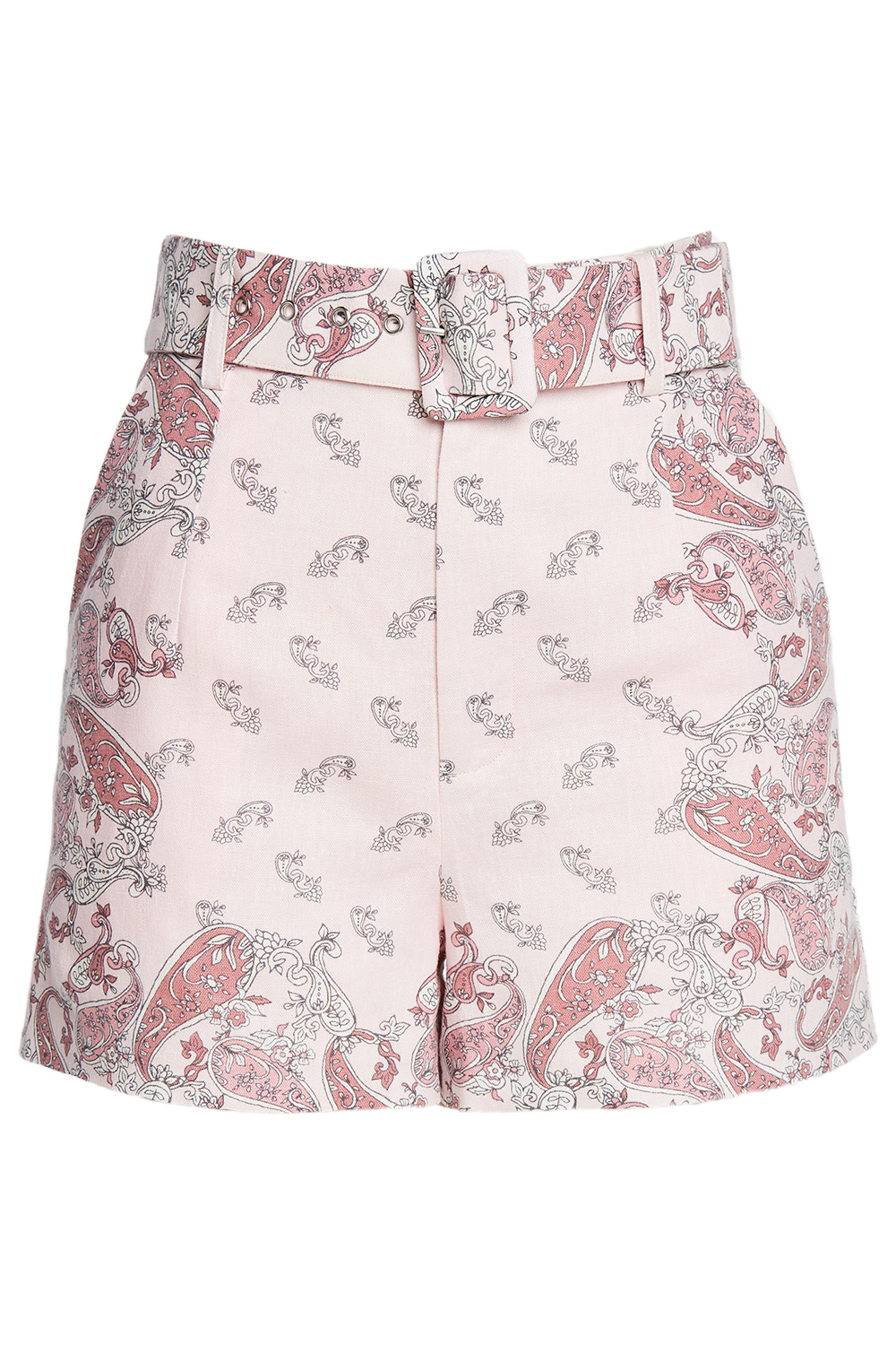 PAISLEY LINEN SHORT in colour PARFAIT PINK
