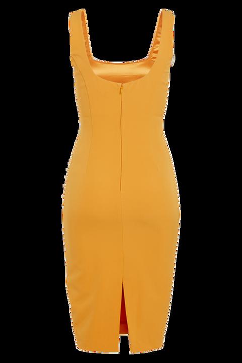 CHIARA DRESS in colour FLAME ORANGE