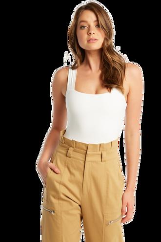 MIMI BODYSUIT in colour BRIGHT WHITE
