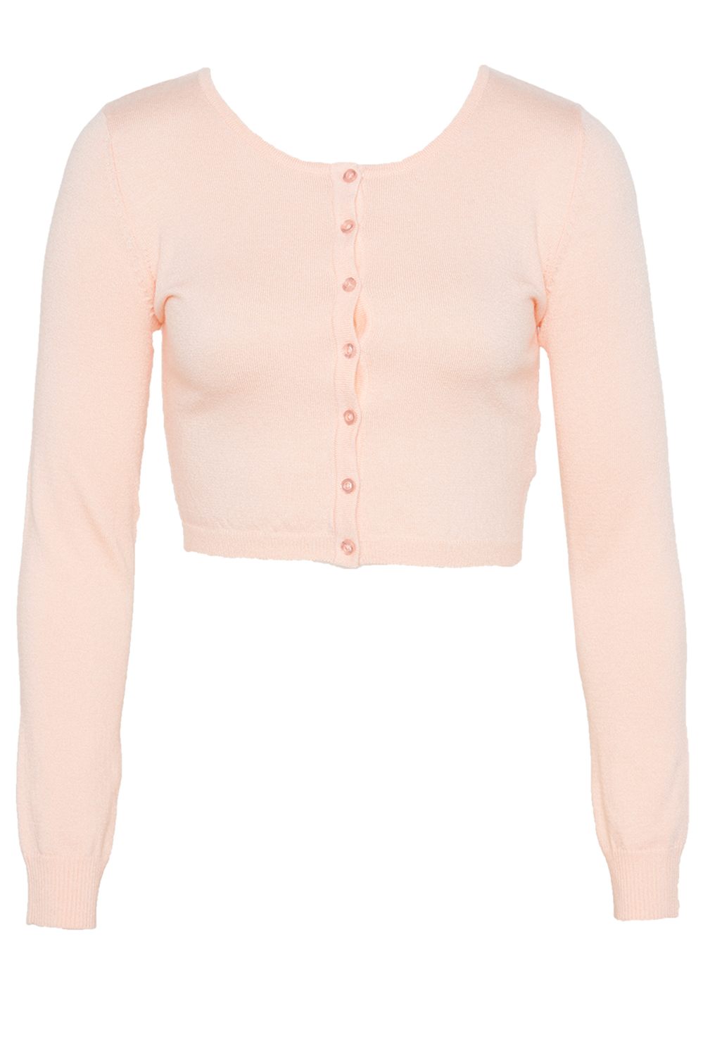 AMANDA CROP CARDI in colour PEACH WHIP