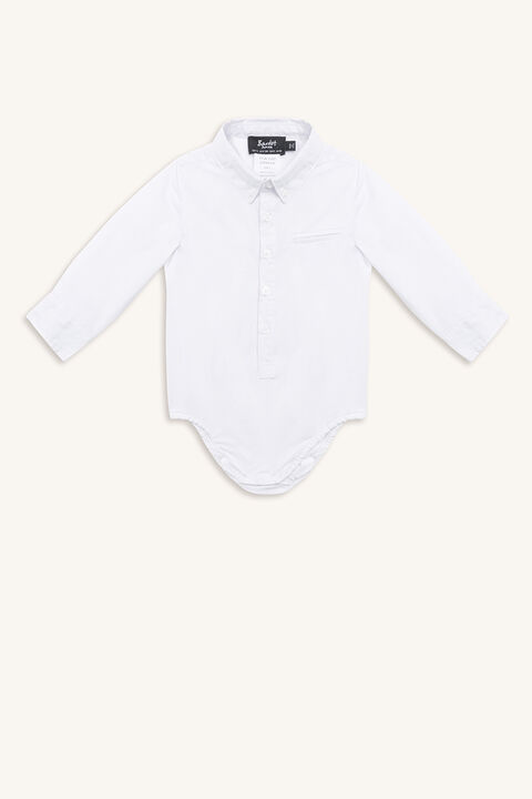 BASIC SHIRT GROW in colour BRIGHT WHITE