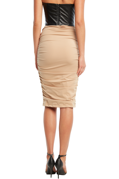 CHARLI MIDI SKIRT in colour BRUSH
