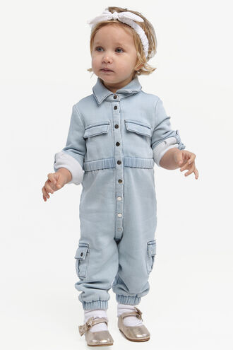 EVA KNIT BOILER SUIT in colour ILLUSION BLUE