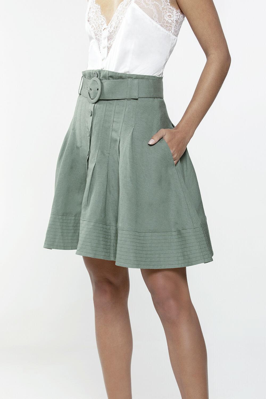 AURORA SKIRT in colour IVY GREEN