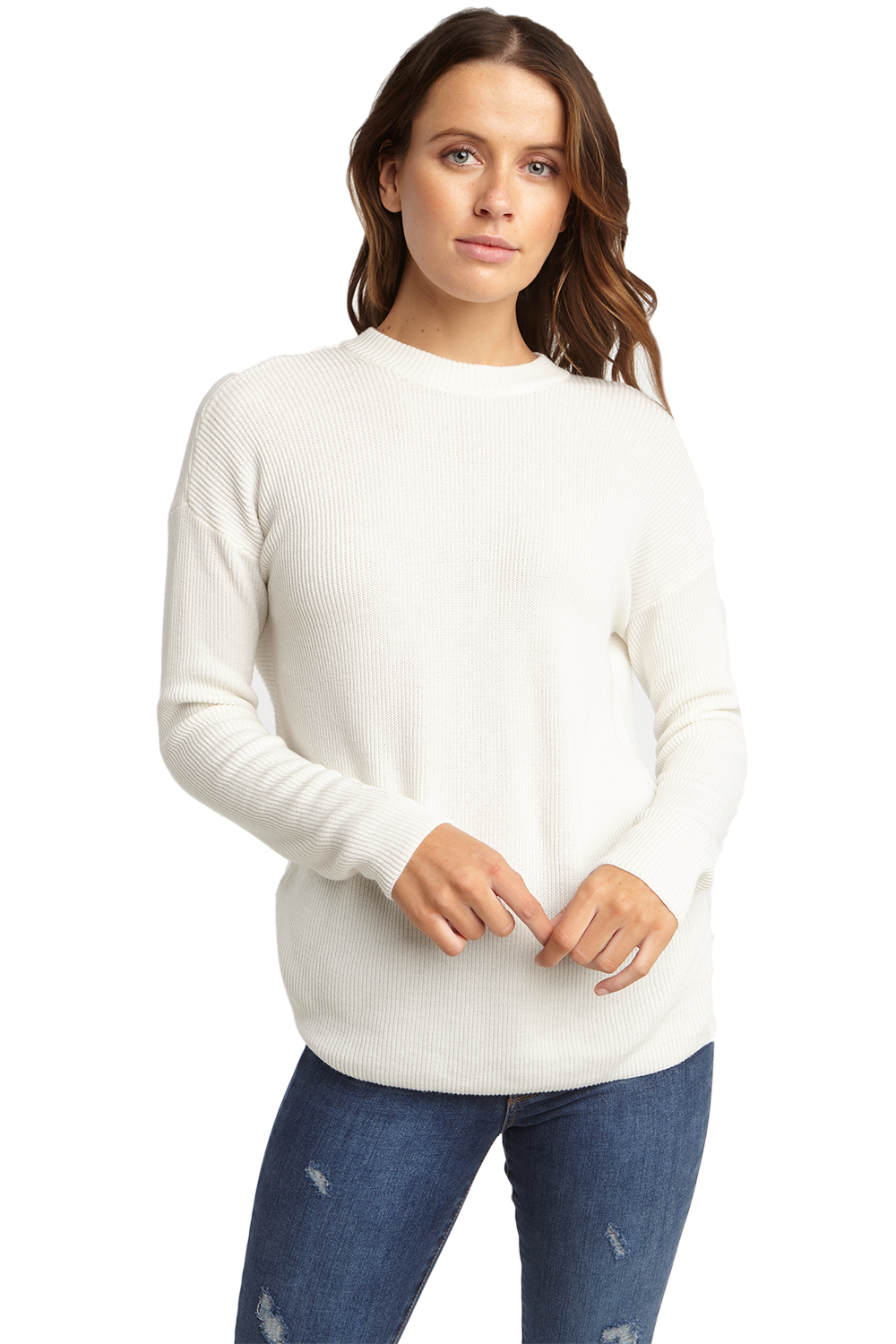 TWIST BACK SWEAT in colour BRIGHT WHITE