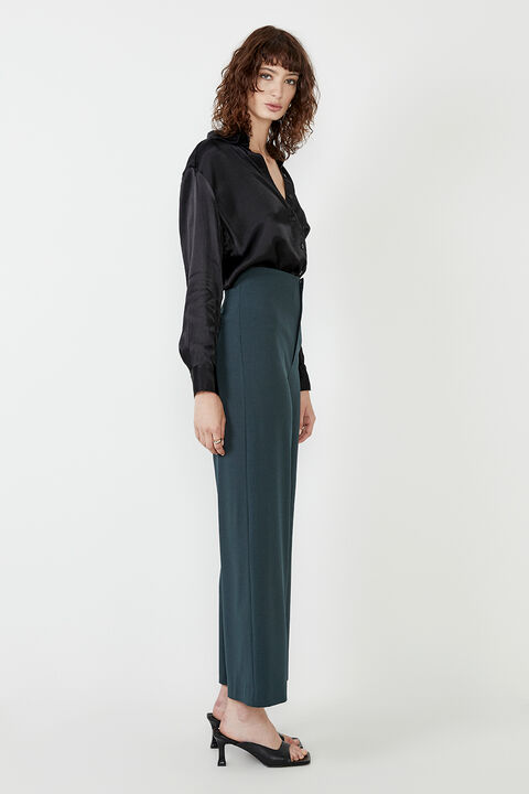ANNA HIGH WAIST PANT  in colour EDEN