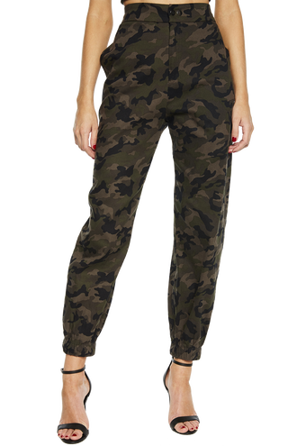 MISCHIEF CAMO PANT in colour BURNT OLIVE