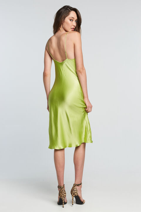 SHARNIE SLIP DRESS in colour LIMELIGHT