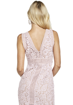 MORGAN LACE DRESS in colour LILAC SNOW