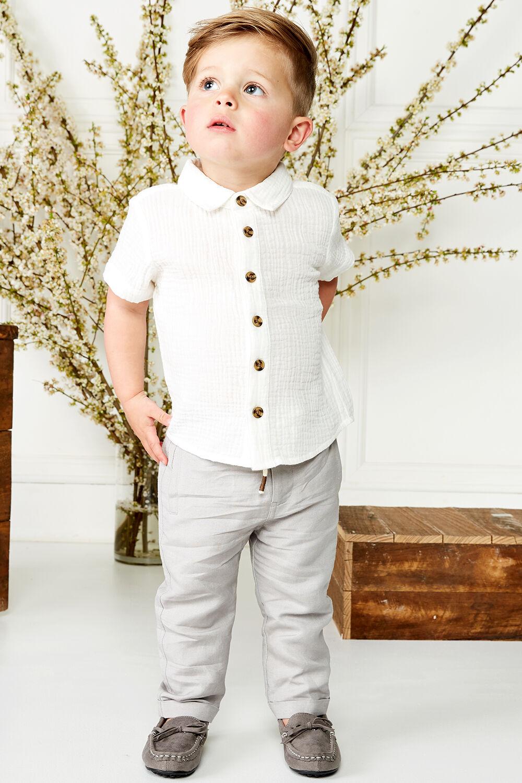 OWEN LINEN SHIRT in colour BRIGHT WHITE