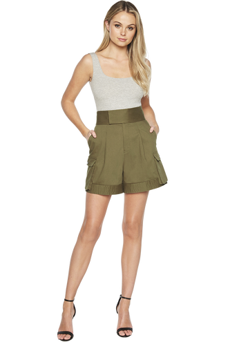 UTILITY SHORT in colour DUSKY GREEN