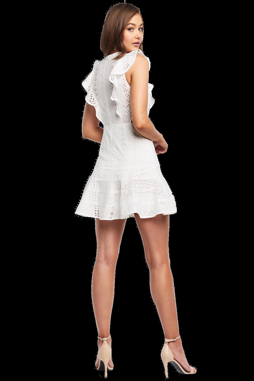 MELANIE LACE DRESS in colour CLOUD DANCER