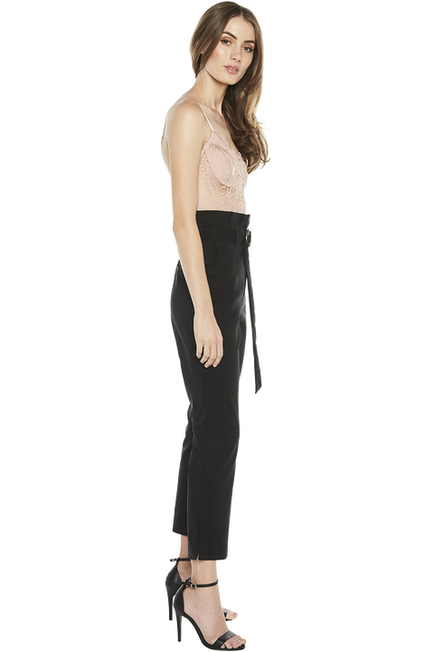 CLAUDIA SKINNY PANT in colour CAVIAR