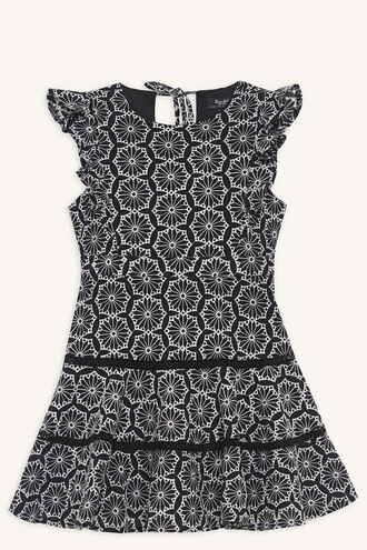 SIERRA FRILL DRESS in colour CAVIAR