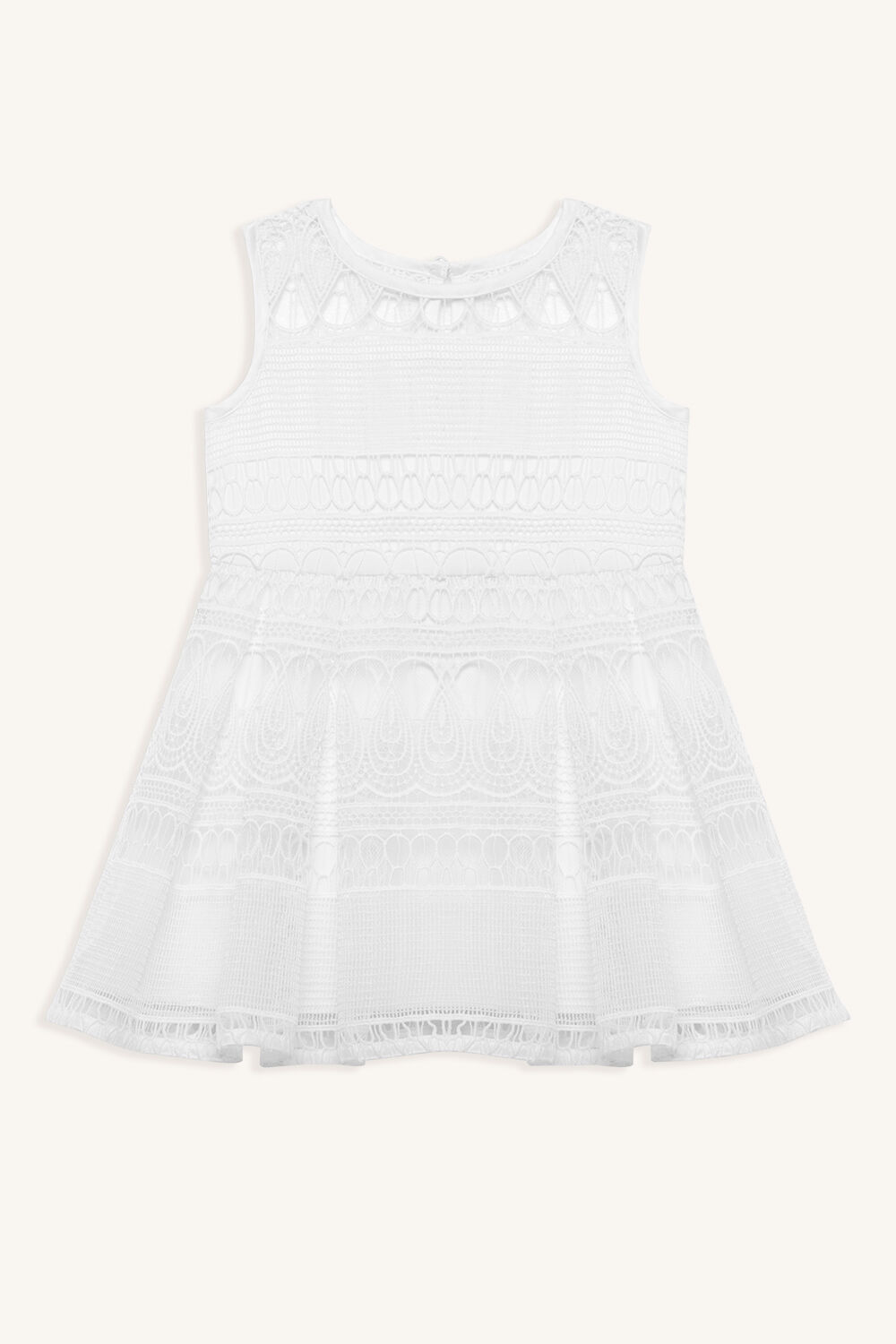 LINEAR LACE DRESS in colour SNOW WHITE