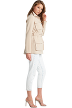 TAILORED SAFARI JACKET in colour MOONLIGHT