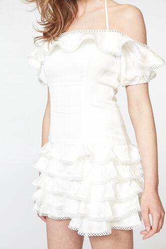 CAITLYN MINI DRESS in colour CLOUD DANCER