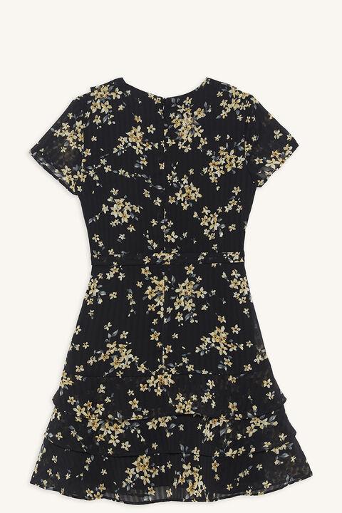 LUELLA RA RA DRESS in colour JET BLACK