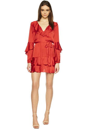 DONNA TIER DRESS in colour FORMULA ONE