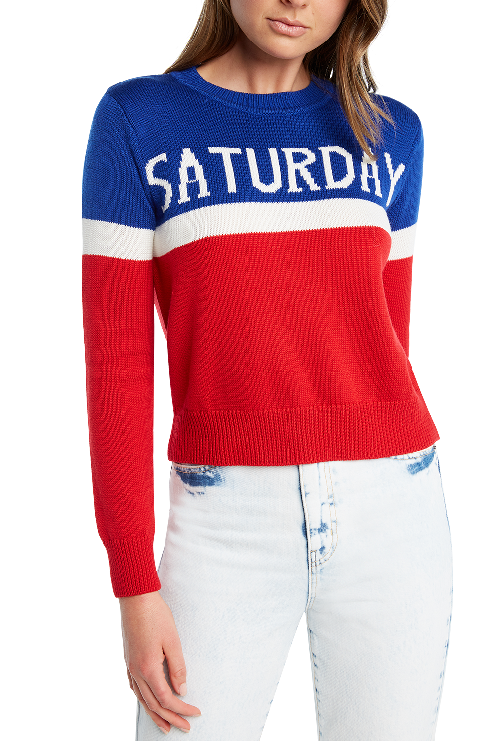 SATURDAY KNIT JUMPER in colour BRIGHT WHITE