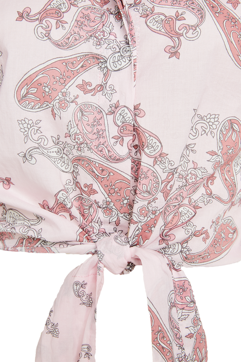 PAISLEY COTTON SHIRT in colour PARFAIT PINK