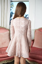 TWEEN GIRL THE ELLE DRESS in colour PEACH BLUSH