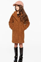 IZZY LONG COAT in colour WOODSMOKE