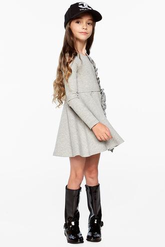 DASHA RUFFLE DRESS in colour MOONBEAM