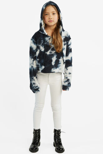CROPPED HOODIE in colour INSIGNIA BLUE