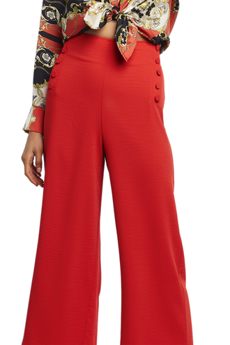 BUTTON SIDE PANT in colour FIESTA