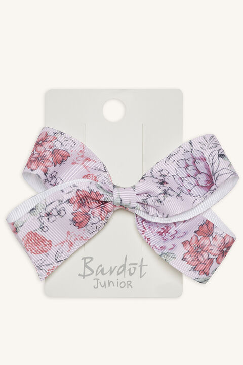 FLORAL GROS GRAIN BOW in colour PINK CARNATION