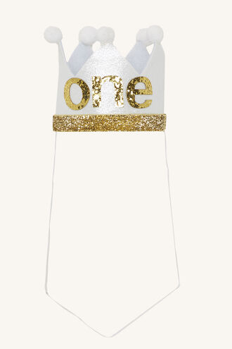 ONE BIRTHDAY CROWN in colour GOLD EARTH