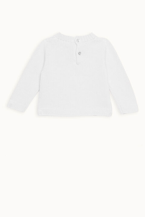 ASHER BOBBLE KNIT JUMPER in colour WHISPER WHITE