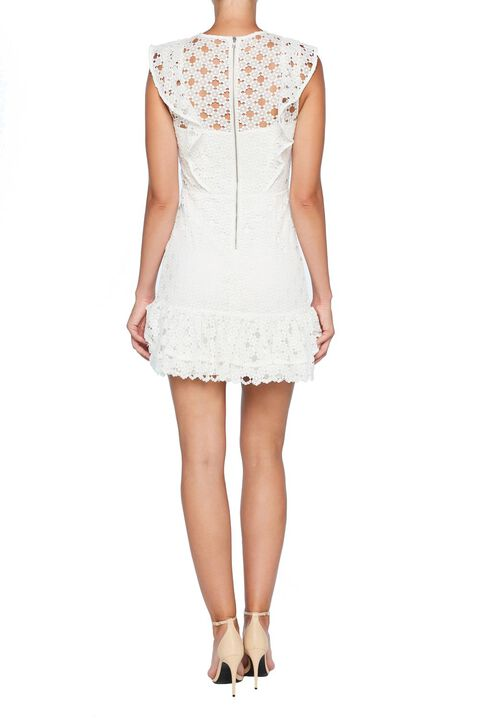 RICKY LACE DRESS in colour CLOUD DANCER