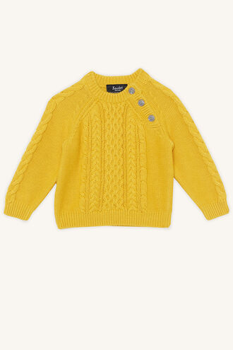 CABLE KNIT SWEATER in colour SULPHUR