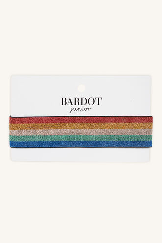 LUREX STRIPE HEADBAND in colour BRIGHT WHITE