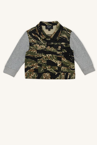 CAMO RELAXED JACKET in colour JET BLACK