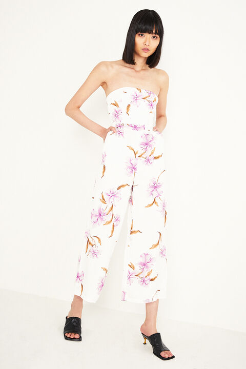 FLORAL JUMPSUIT in colour BLANC DE BLANC