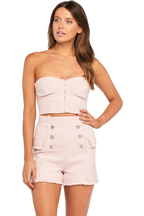 PINK BOUCLE BUSTIER in colour PETAL PINK