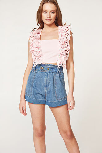 LIANA TOP in colour PARFAIT PINK