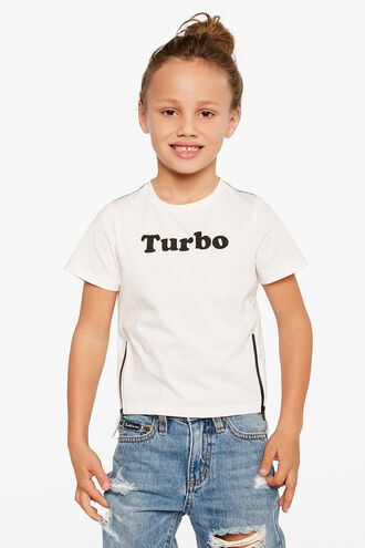 TURBO S/S TEE in colour BRIGHT WHITE