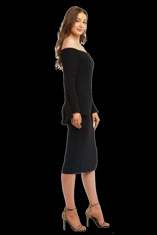 SOLANGE DRESS in colour JET BLACK
