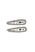 CLEAR CRYSTAL CLIP SET in colour BRIGHT WHITE