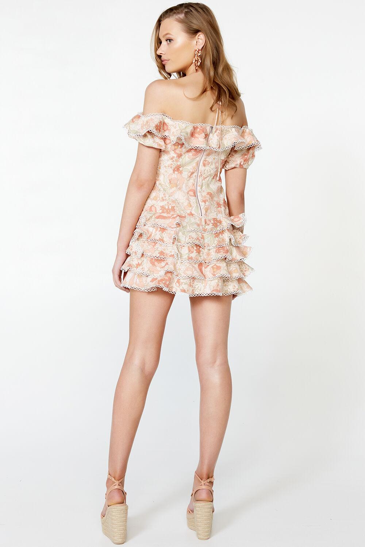 CAITLYN MINI DRESS in colour PEACH MELBA