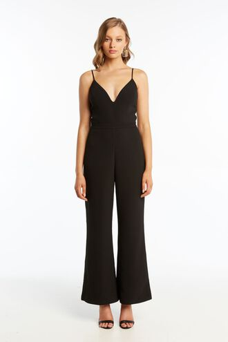 BEATRICE PANTSUIT in colour CAVIAR
