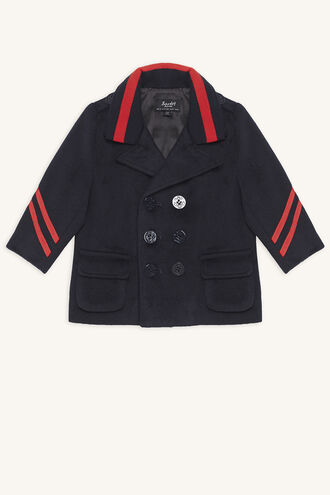CAPTAIN PEA COAT in colour BLACK IRIS