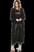 BLAIR LONG CARDIGAN in colour CAVIAR