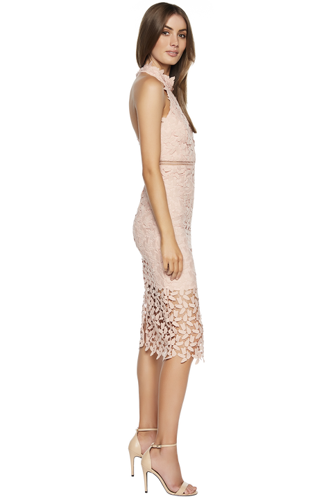 GEMMA HALTER DRESS in colour MISTY ROSE