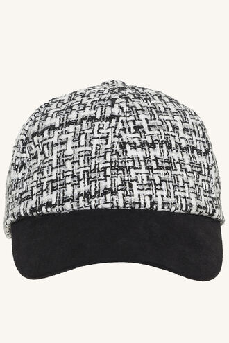 BOUCLE LUREX CAP in colour METEORITE