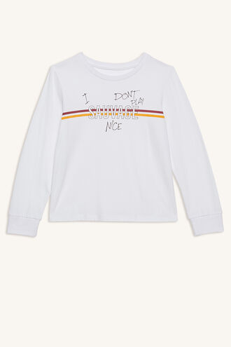 SAUVAGE L/S TEE in colour BRIGHT WHITE